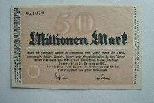 Notgeld Stadt Dortmund Hörde (Wfl/NW) 50 Millionen Mark druck einseitig (aR1474)