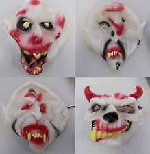 Bloody Vampire Ox Horns Halloween Rubber Face Masks Horror New Fancy Dress