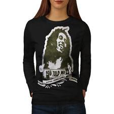 Marley Rasta Celebrity Women Long Sleeve T-shirt NEW | Wellcoda