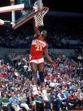 Dominique Wilkins Dunk Atlanta Hawks Retro Basketball Giant Wall Print POSTER