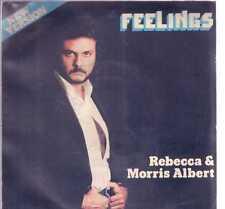 "REBECCA & MORRIS ALBERT FEELINGS VINILE 45 GIRI 7"" USED"