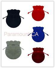 "3""x3.5"" Round Shape Jewelry Pouches Velour Velvet Bags Pack of 12 Velveteen Bags"