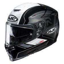 HJC rpha 70 grafica coptic nero bianc casco integral visiera trasparente occhial