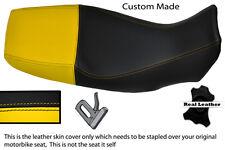 YELLOW & BLACK CUSTOM FITS YAMAHA TDM 850 4TX 96 ONWARDS LEATHER SEAT COVER