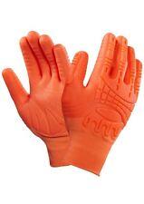 Ansel Mad Grip Gloves Hi Viz Palm Knuckle Protection Tough Mudder Size 8 M 9 L