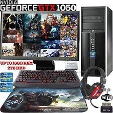 ULTRA Veloce HP Gaming Computer Intel Quad Core i5 i7 GTX 1050 6in1 Set Completo 4K PC