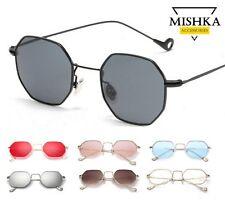 Occhiali da Sole *MisHka* Metallo a Specchio Esagonali Fume' Vintage Donna/Uomo