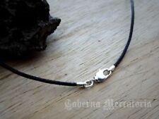 Halsband aus Leder mit Karabiner - Schwarz oder Braun - Lederband, Halskette