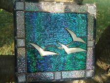 "Stained Glass Seagull Suncatcher Sail Panel Window Tiffany Style  12""x12"""