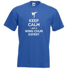 Keep Calm sono Wing Chun Ving Tsun Expert Arti Marziali Da Uomo Ragazzi T-shirt Regalo