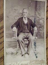 VINTAGE CABINET CARD OLDER GENTLEMAN  RIPPEL'S STUDIO SUNBURY PA.