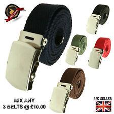 Cualquier Cinturones De Moda Informal Lona De Cincha 3 Unisex Hebilla de estilo militar Curvo