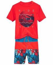 OSHKOSH B'GOSH® Toddler Boys 2T, 3T Ride The Surf Rashguard Swim Set NWT