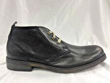 Men's Black Mid Boots 100% Genuine Leather