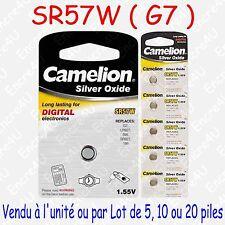 Pile Bouton SR Oxyde d'argent 1,55V : SR57W G7 195 395 SR927 LR927 : x 1 5 10 20