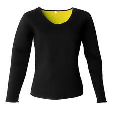 T-shirt Sport Femme à Manches Compression pour Yoga Pilote Running Fitness Jaune