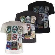 Rare Mens Asian Thai Lager Beer World Drinks Label T-Shirt Thai Made | UK IMPORT