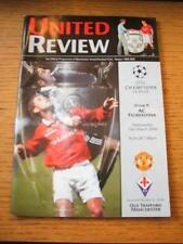 15/03/2000 Manchester United v FIORENTINA COPPA DEI CAMPIONI [] (lievi piegati). NO OB
