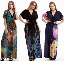 Les femmes à manches kimono robe de soirée parti plage Hippie Robe Longue Plus Taille