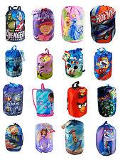 Disney Licensed Indoor Slumber Sleeping Bag For Kids Boy Girl w/Carry Drawstring