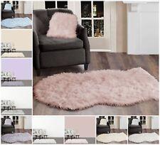 Faux Fur Sheepskin Soft Floor Rug/Mat 2 Sizes - Pink, Grey, Blue, Lilac