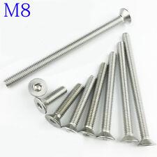 M8 8mm M8 x1.25 DIN7991 Stainless Steel FLAT HEAD Socket Screws Bolt Countersunk