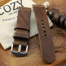 Handmade Vintage 402 Leather Minimalist Watch Strap (18mm, 20mm, 22mm, 24mm)