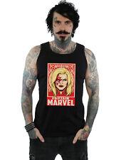Marvel Hombre Captain Marvel Ornament Camiseta Sin Mangas
