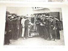 1899 BOER WAR NAVY SERVING OUT THE SHIPS GROG RUM