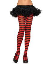 Plus Size Striped Nylon Tights Stockings