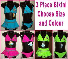 GIRLS 3 piece BIKINI Sz 3 4 or 5 - SWIMWEAR Bathers GORGEOUS TOGS w/ Skirt - NEW