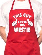 Ce mec aime son westie bbq chien cuisine drôle nouveauté tablier