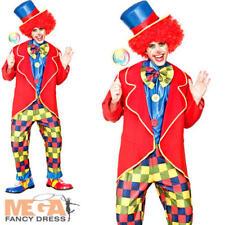 Circo Payaso Para Hombre Carnaval Divertido Novedad Fiesta De Disfraces Adultos Traje de Disfraz
