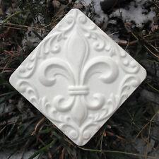 plaster,concrete abs plastic fleur de lis mold mould