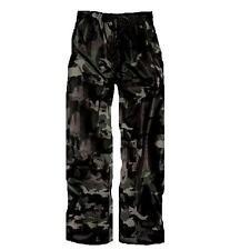 WATERPROOF TROUSERS LADIES 8-22 dark urban camouflage HIKING WALKING black camo