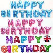 16'' Palloncini Stagnola Set Confezione Lettere Festa Di Compleanno Casa