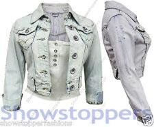 Veste En Jeans Femmes Jean Vestes Femmes Gilet Court Taille 36 38 40 42 44 Neuf