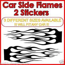 2 enormes llamas pegatinas Auto Tunning Car pegatinas se adaptan a cualquier coche S36