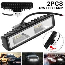 2X 48W LED Driving Lamp Work Light Bar Flood Spot Lights Off Road Car Truck SUV