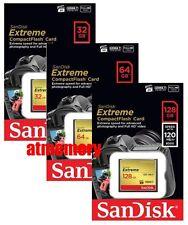 Sandisk Extreme 32GB 64GB 128GB Compact Flash Card CF 120MB/s 800x UDMA 7