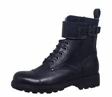 Momino 1407M Kinder Boots Stiefeletten Leder Lammfell Unisex blau Gr. 33-37 Neu