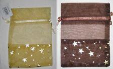 Organzabeutel con estrellas presión - 20 x 15 cm-weihnachtsbeutel-organzasäckchen