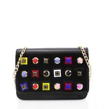 La vendita vendita linea donna borchie in metallo catena di grandi dimensioni borsa da sera partito prom Clutch Bag