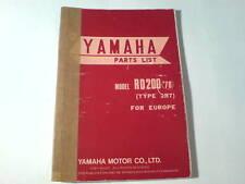 Ersatzteilliste / Spare Parts List Yamaha RD 200 / RD200 '78 Stand 12/1977