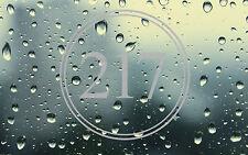FROST ETCHED CIRCLE BORDER DOOR NUMBERS,ETCHED EFFECT  GLASS DOOR NUMBERS
