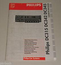 Betriebsanleitung Philips Autoradio DC315, DC342, DC345