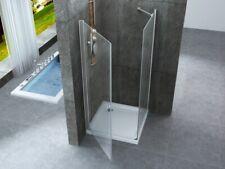 Box doccia due lati anta battente e lato fisso cristallo 8mm trasparente h.195 P
