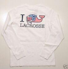 Vineyard Vines Men's L/S White Cap I Whale Lacrosse Graphic Pocket T-Shirt