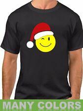 Emoticon Santa T-Shirt Christmas Xmas Tee Present Gift Funny Emojis Shirt