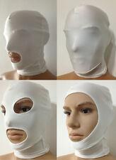 Halloween party lycra spandex zentai costume white Mask/Hood for Slenderman